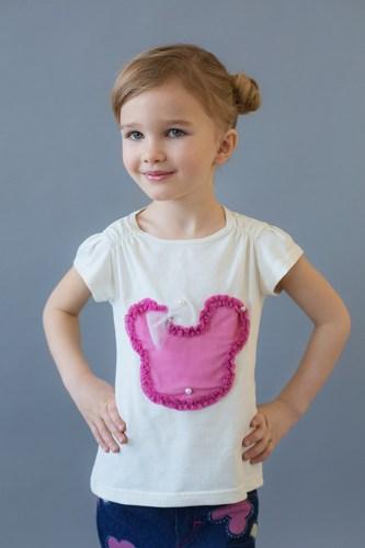 Детская модная футболка для девочки