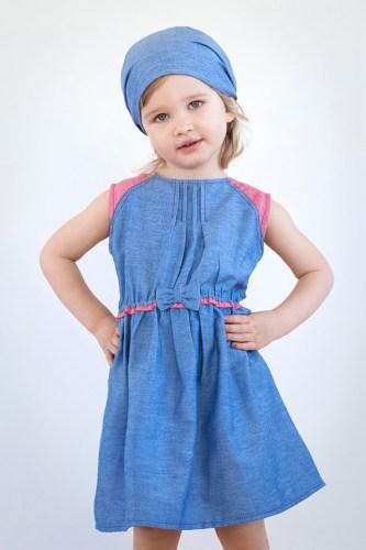 Детское джинсовое платье для девочки