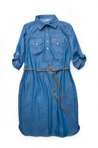 Платье-рубашка Family look для девочки