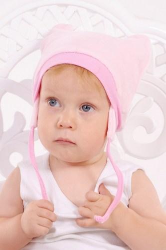шапочка для девочки велюровая