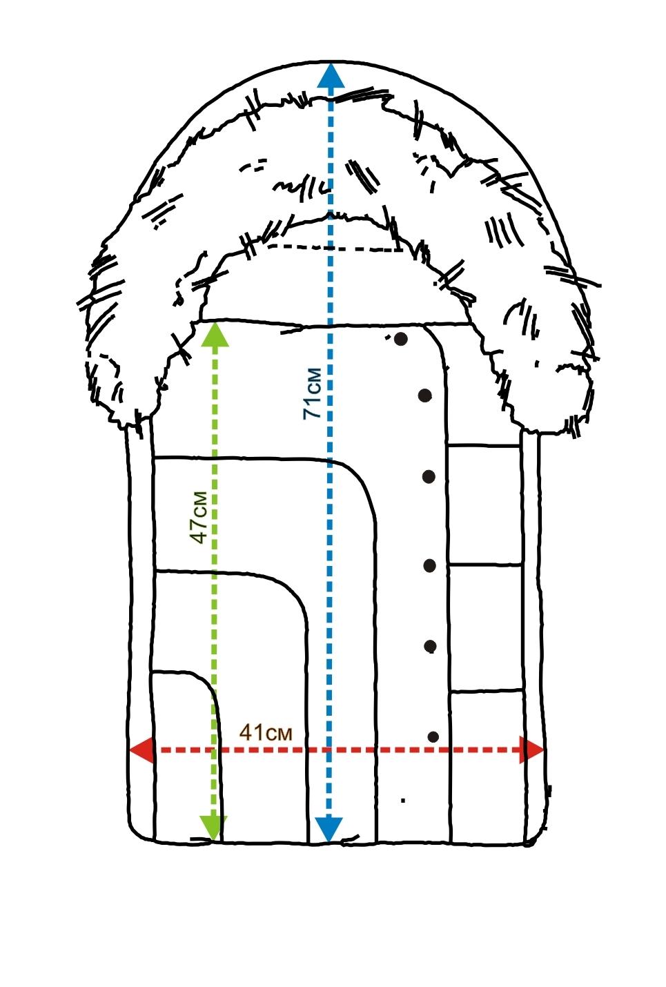 Замеры зимний конверт на выписку